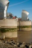 Defesa da água da barreira de Tamisa Fotos de Stock Royalty Free