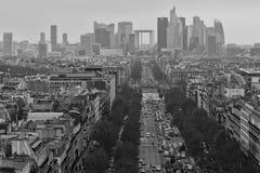 Defesa mais quartier em preto e branco Fotos de Stock