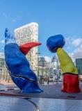 Defesa Paris do La da arquitetura da cidade, França imagens de stock