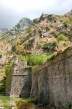 Defevsive walls of Kotor, Montenegro Stock Photography