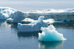 Deffirent forms of icebergs, Antarctica Royalty Free Stock Photography