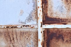 Deffrent colors of rust on metall plate stock images