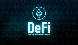 Free DeFi Decentralized Finance Concept Banner Illustration Royalty Free Stock Photo - 220230165