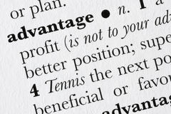 Defi do dicionário de palavra da vantagem Imagem de Stock Royalty Free