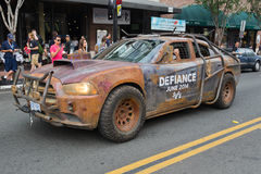 Defiance Law Keeper Dodge Car on San Diego Downtown street Stock Image