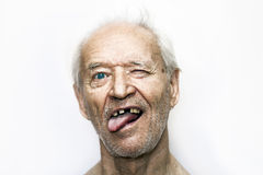 A defiant old man Royalty Free Stock Photography