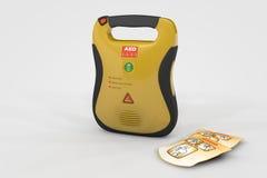 Defibrillator del AED Fotos de archivo libres de regalías