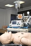 Defibrillator on a dummy for practisse Stock Images
