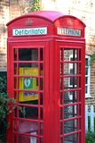 A defibrillator fitted phone box in England UK Royalty Free Stock Photography