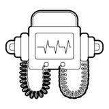 Defibrillator icon, outline style. Defibrillator icon. Outline illustration of defibrillator vector icon for web Stock Photos