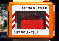 Defibrillator noodsituatie Stock Afbeelding