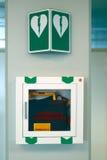 Defibrillator noodsituatie Stock Afbeeldingen