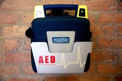 Defibrillator o AED externo automatizado Fotografía de archivo libre de regalías