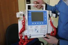 Defibrillator para la resucitación de la muerte imagen de archivo