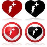 Defibrillator pictogram stock illustratie