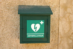 Defibrillator Pudełko Fotografia Stock