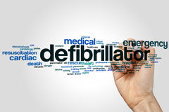 Defibrillator word cloud Stock Photos