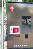 Defibrillatore della via - salvavita - per accesso pubblico Fotografie Stock Libere da Diritti