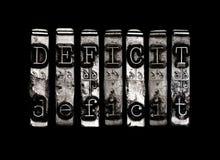 deficit Fotografia de Stock