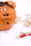 Deficit de orçamento Foto de Stock