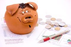 Deficit de orçamento Fotografia de Stock