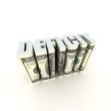 Deficit de orçamento Fotografia de Stock Royalty Free