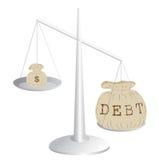 Deficit de orçamento Imagem de Stock