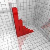 deficit del diagramma 3d Fotografie Stock