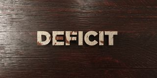 Deficit - grungy wooden headline on Maple  - 3D rendered royalty free stock image Royalty Free Stock Photography