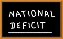 Deficit nacional Imagens de Stock
