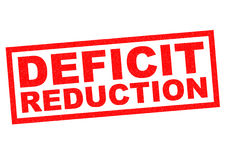 DEFICIT REDUCTION Royalty Free Stock Photo