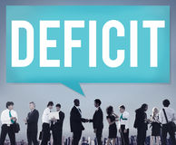 Deficit Risk Loss Deduct Recession Concept stock photo