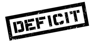 Deficit rubber stamp. On white. Print, impress overprint Royalty Free Stock Photos