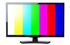 Defienda el vídeo retro del monitor TV con las barras coloridas aisladas imagenes de archivo