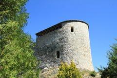 Defienda la torre del castillo Liptovsky Hradok foto de archivo libre de regalías