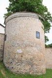 Defienda la torre en el palacio Breznice foto de archivo