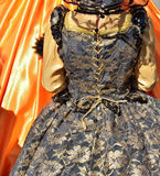 Defile in costumes of Carnival de Venice Stock Images