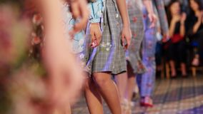 Defile on fashion week stock images