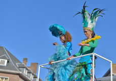 Defile during yearly carnival in Nivelles Royalty Free Stock Image
