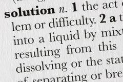 defin词典解决方法字 库存图片