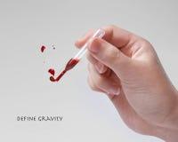 Defina a gravidade Fotos de Stock Royalty Free