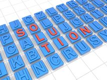 Define a solution concept Stock Images