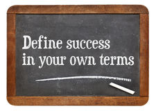 Free Define Success In Your Own Terms Stock Image - 52698811