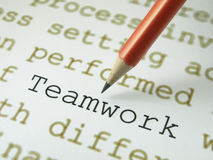 The word Teamwork  Royalty Free Stock Photography