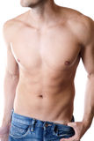 Defined male body. Young man with a defined body Royalty Free Stock Photos