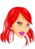 Definição da face da boneca da forma ilustração royalty free