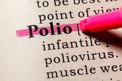 Definição da poliomielite foto de stock royalty free