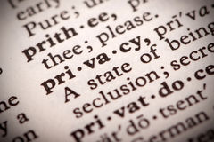Definição da privacidade Foto de Stock Royalty Free