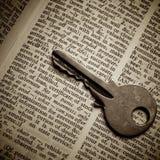 Definição da segurança indic pela chave Imagens de Stock Royalty Free