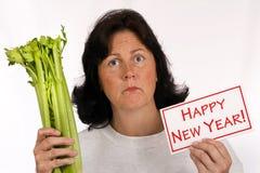 A definição de ano novo comer saudável e perder o peso Fotografia de Stock